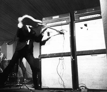 ... Two Marshall 8×12 Cabinets (being Impaled By A Fender