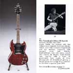 Click to view larger version. Sotheby's auction of Pete's 1969 Gibson SG Special — serial no. 917512. Courtesy thewho.org.