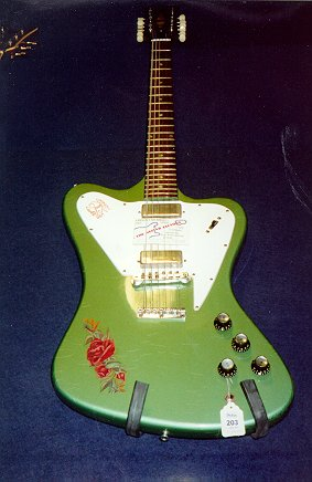 in Pelham Blue: 12-string Green 1965 Gibson Firebird 12-string guitar.