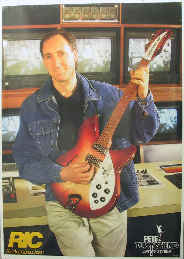 signature series endorsements pete townshend s guitar gear rickenbacker poster rickenbacker poster from whocollection com
