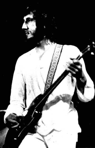 Ca. 1972, 1972, Foret Nationale, Brussels, Belgium, with one of last known uses of a cherry-finish Gibson SG Special. Guitar possibly has a Tune-O-Matic bridge/tailpiece, and therefore is possibly one of the custom-made SG Specials.